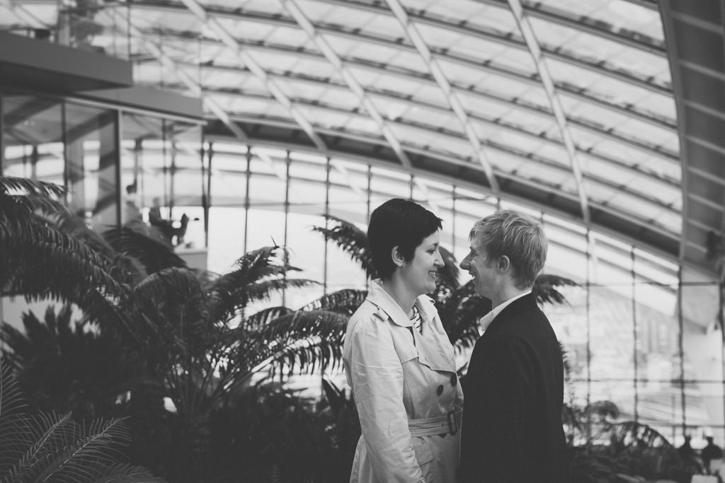 London Sky Garden engagement shoot