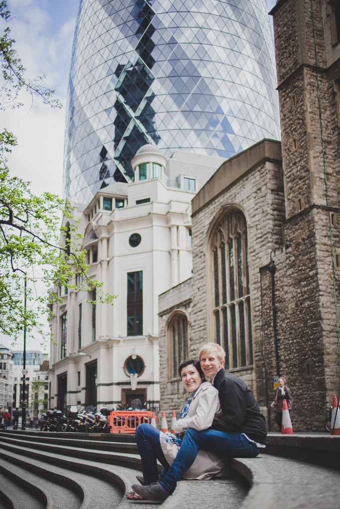 Central London engagement shoot