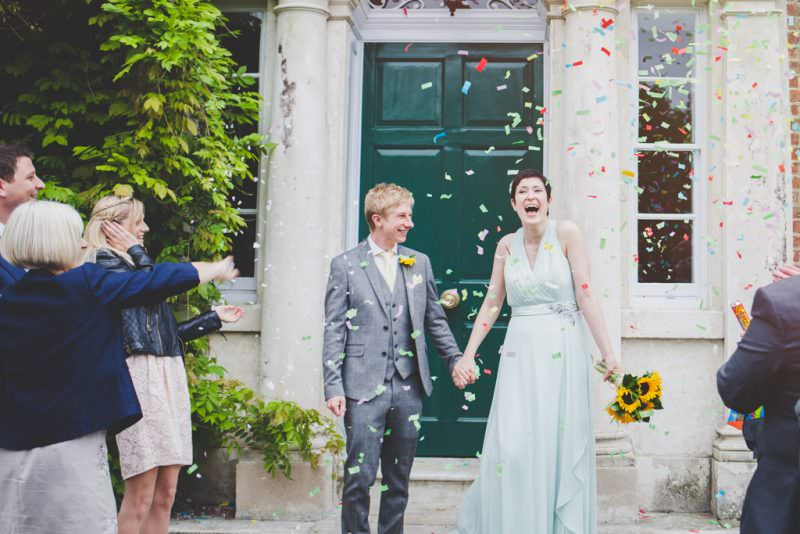 confetti at Merton Register Office wedding - eva-photography