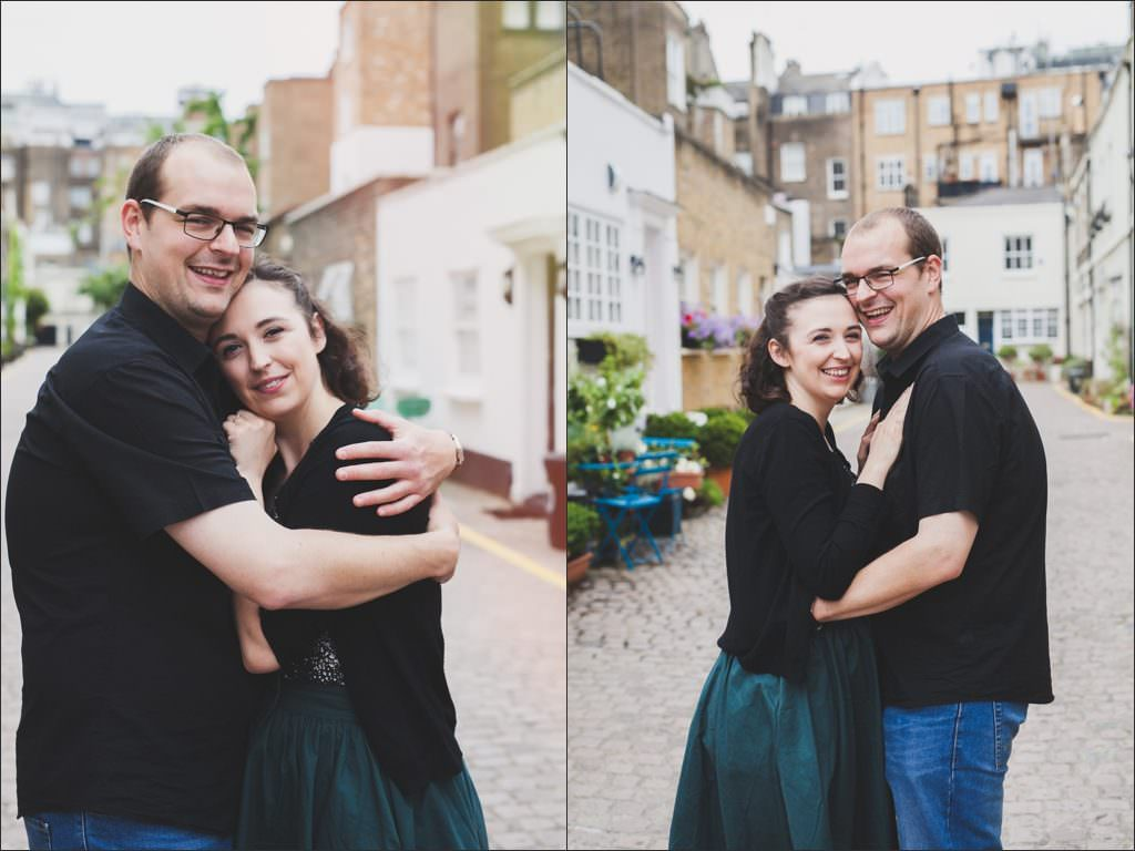 south kensington mews engagement shoot - eva photography