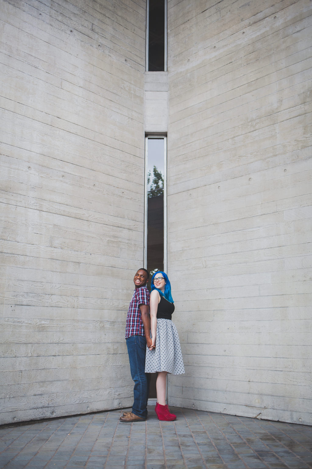 fun South Bank engagement shoot