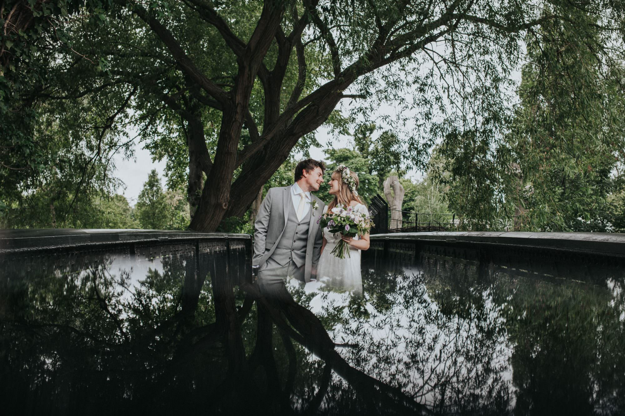 Alternative wedding photographer london - Clissold Park wedding