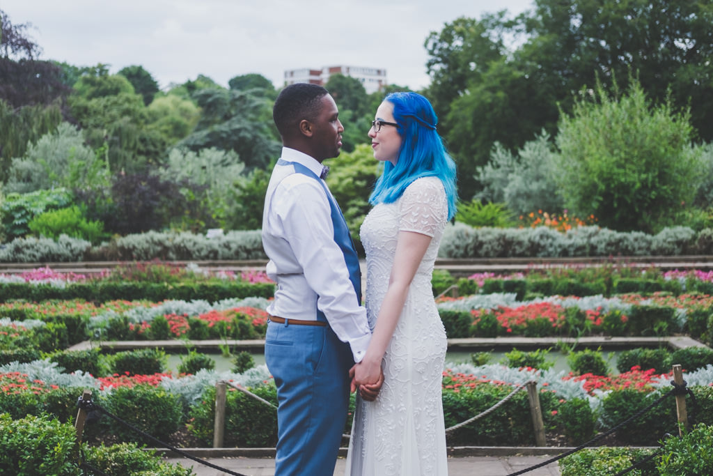 Alternative wedding photographer - Horniman gardens Wedding