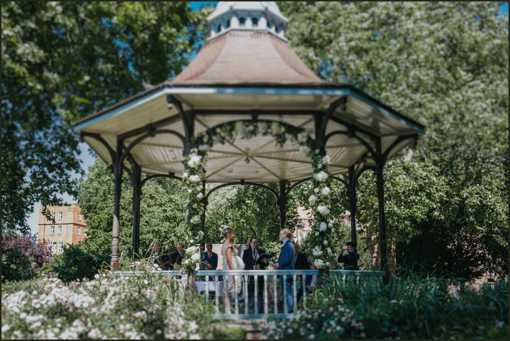 Bandstand wedding
