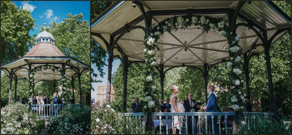 Bandstand wedding, alternative wedding photographer, alternative wedding photographer london, wedding photographer london, relaxed wedding photographer london, london park wedding, band stand wedding