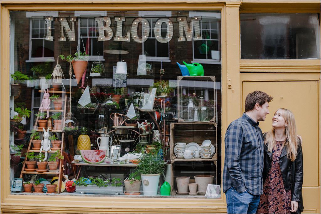 Alternative wedding photographer London - Columbia Road Flower Market shoot