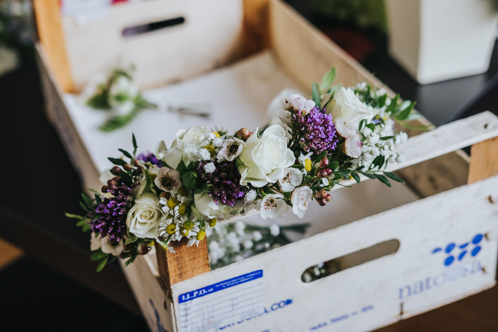 Boho Clissold Stoke Newington Hackney wedding, flower crown