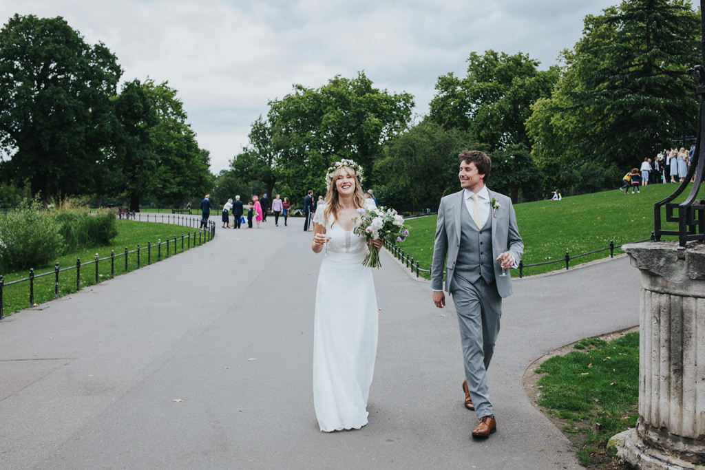 Boho Clissold Stoke Newington Hackney wedding, Clissold Park wedding