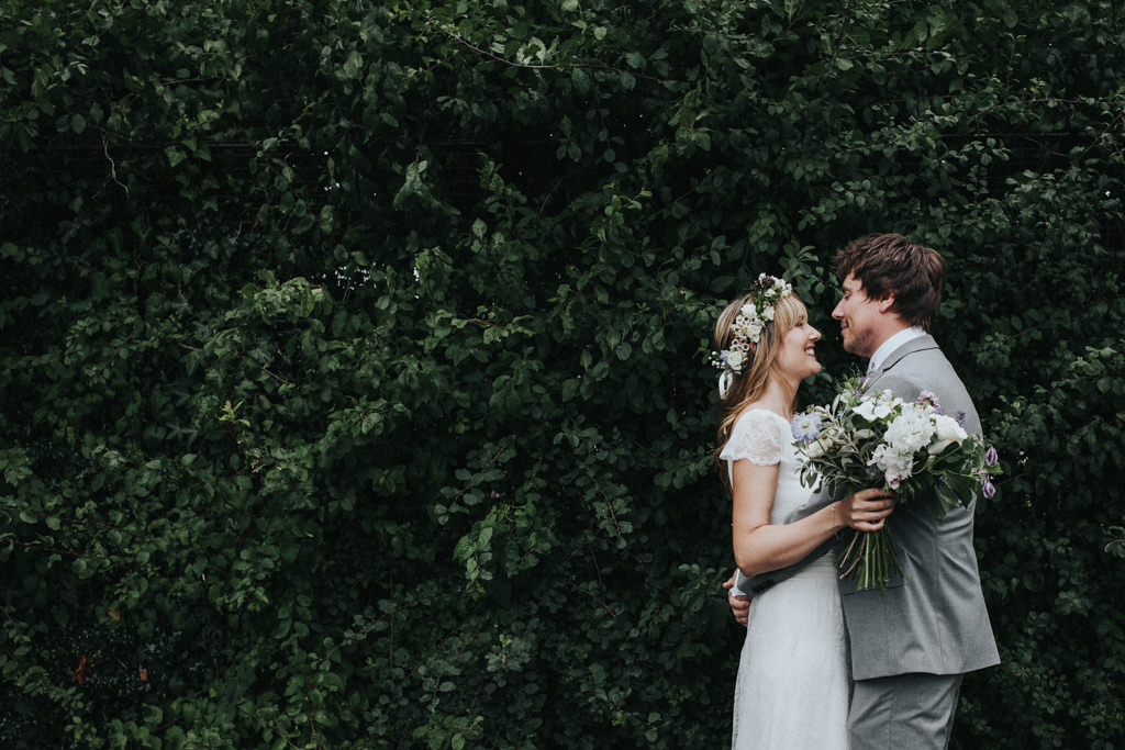 Boho Clissold Stoke Newington Hackney wedding, Clissold Park wedding portrait, Hackney wedding