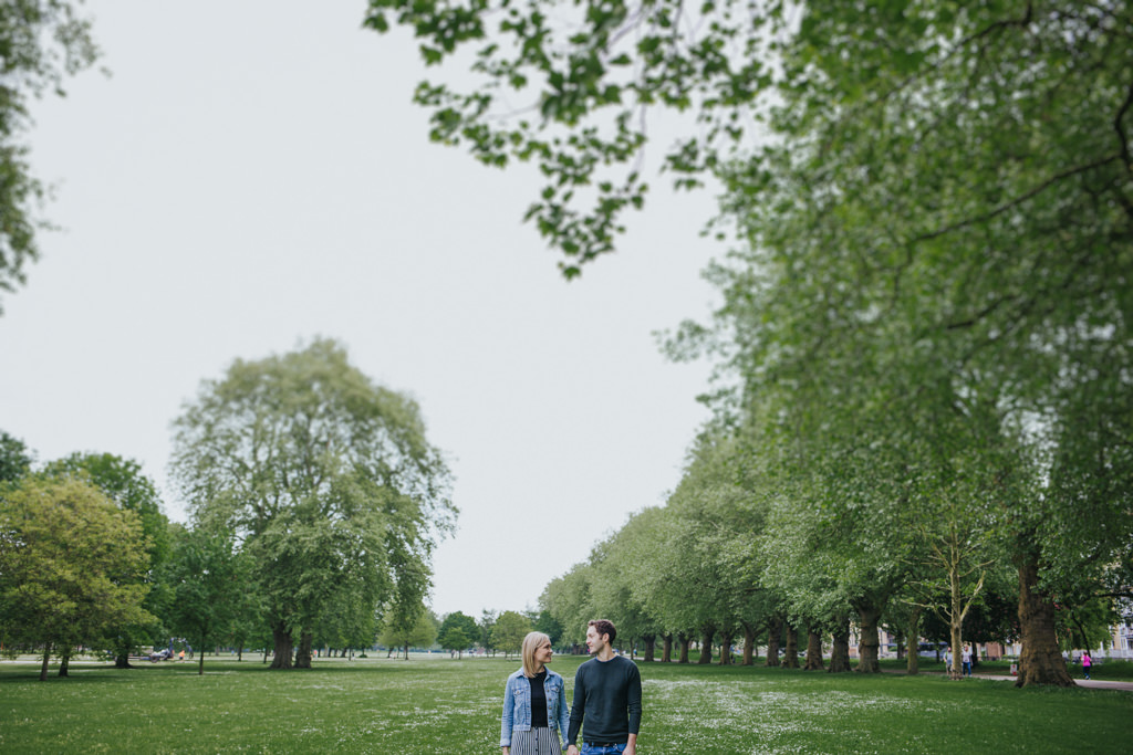 Engagement shoot in Victoria park London