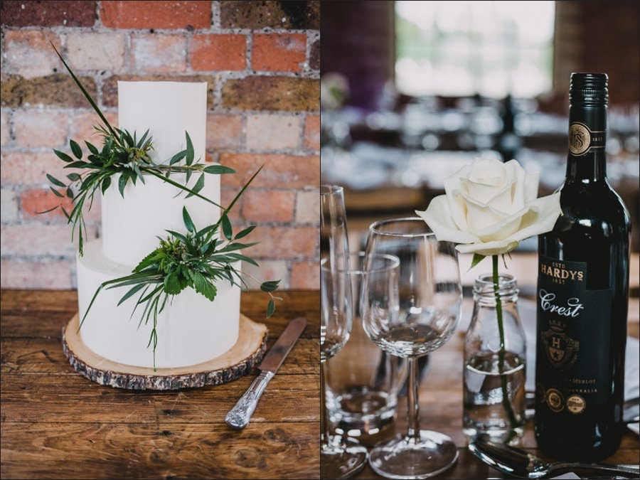Loft Studios wedding, humanist wedding Sparkling Spatula wedding cake