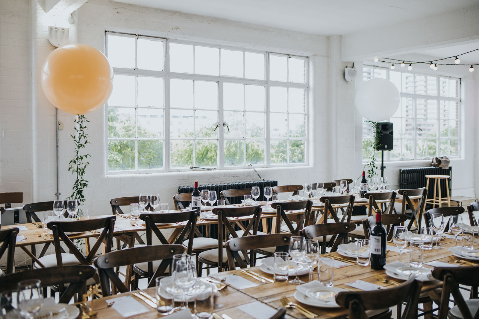 Decorations at the Wimbourne House wedding in Shoreditch