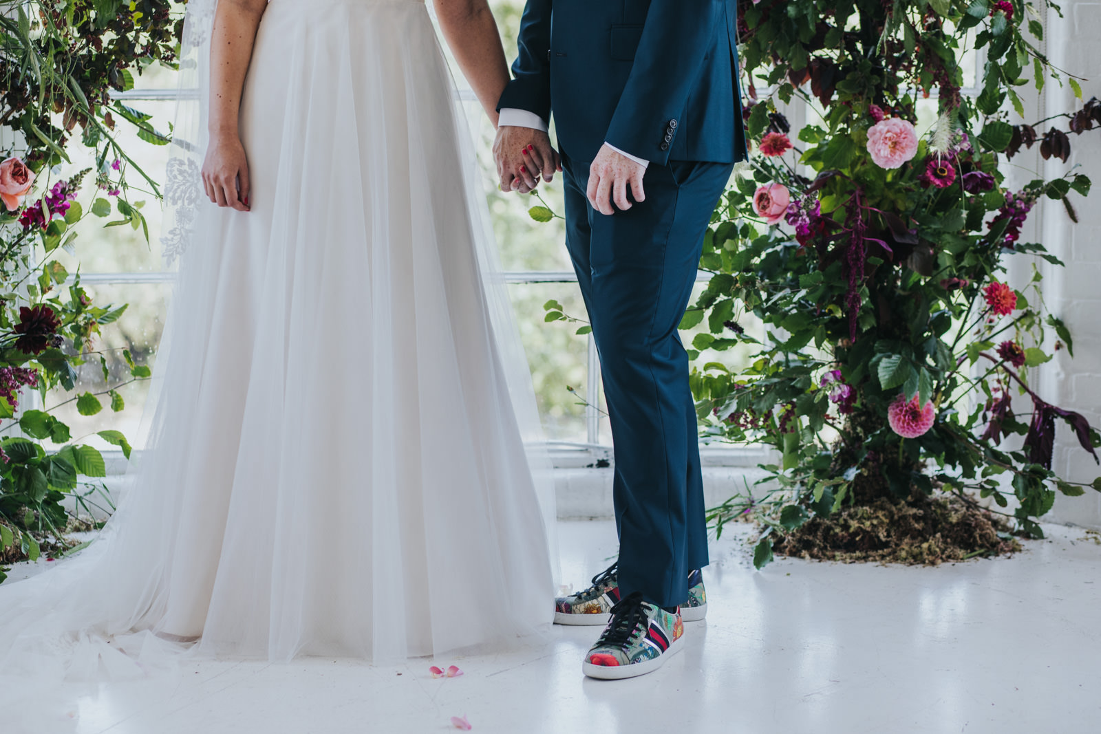 Bride and groom at the Shoreditch wedding ceremony at the Wimbourne House wedding